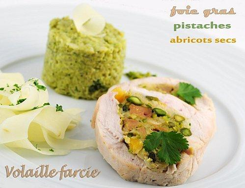 recette de f te volaille farcie foie gras abricots secs pistaches d couvrir. Black Bedroom Furniture Sets. Home Design Ideas
