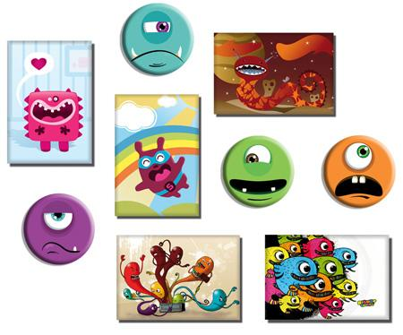 id e cadeau derni re minute monsters pack magnets paperblog. Black Bedroom Furniture Sets. Home Design Ideas
