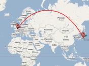 Distance entre points globe