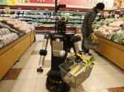 robot vous aide faire courses
