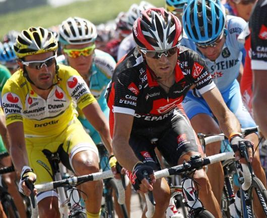 El ciclista español durante el recorrido de 182 kilómetros que separa las localidades de Marsella y Montpellier, en la undécima etapa del Tour de Francia - AFP - 19/07/2007