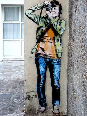 street art dans la rue mouffetard