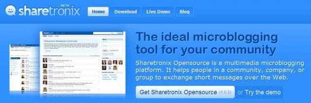 twitter-like, micro-blogging avec Sharetronix en français