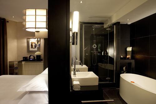 Mon h tel l ultime glamour parisien paperblog for Salle de bain hotel de luxe