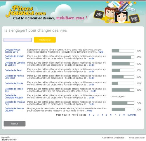 opération pièces jaunes 2010: click and mortar