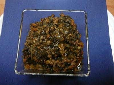 Curry de corète et de viande hachée – Jew's mallow and minced meat curry