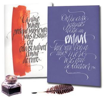 • La calligraphie : rencontre entre l'art & l'écriture