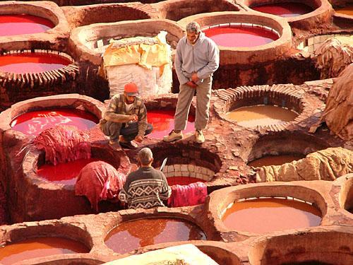 Photographie de Tanneries de Fes, Maroc, Afrique - Maroc - Afrique