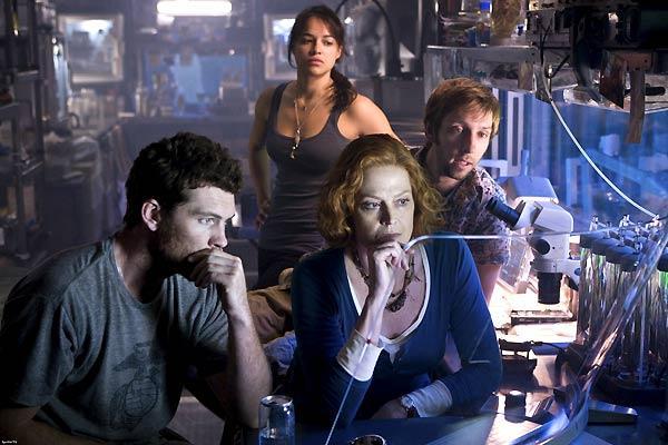 Sam Worthington, Sigourney Weaver et Michelle Rodriguez. Twentieth Century Fox France