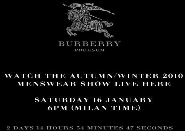 Post image for Les défilés Burberry Prorsum et Emporio Armani retransmis sur Internet samedi