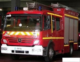 Dispositif important ce matin devant l'école Caloni à Bastia suite à un exercice d'incendie.
