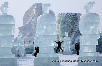 Harbin, sculptures sur glace