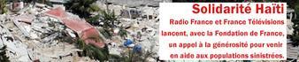 Radio France et France télévisions lance un appel à la générosité suite au séisme à Haïti