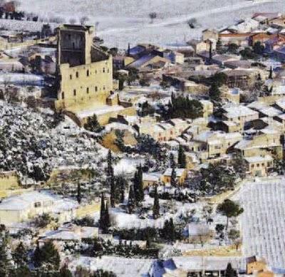 La Provence sous la neige, vue du ciel...