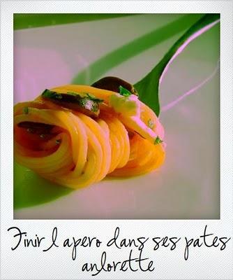 Petite recette de spaghettis pour finir les olives de l'apéro !