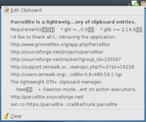 Parcellite en version 0.9.2