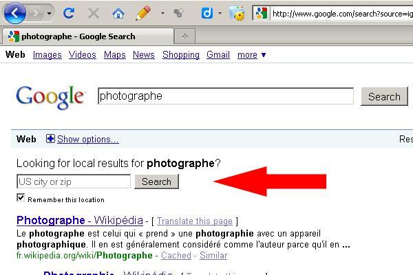 Google veut mon code postal
