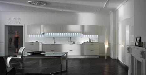 Cuisine design Venus. Fabricant : Snaidero. Design : Pininfarina