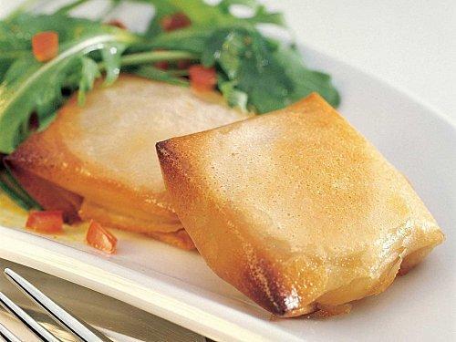 photo-recette-brick de rocamadour sauce vierge au curry