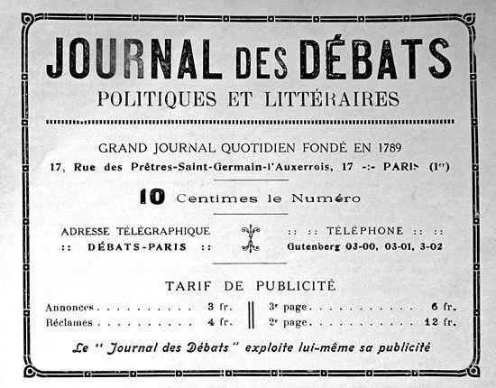Journal des Débats