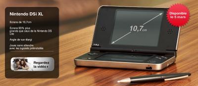 Nintendo DSi XL en mars en Europe