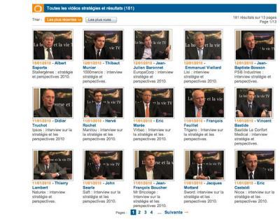 Dirigeants d'entreprises sur la Web TV www.labourseetlavie.com