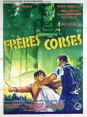 Projection du film `Les Frères Corses` (1939) de Géo Kelber avec Pierre Brasseur, le 30 Janvier à Calvi