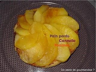 Pain perdu à la cannelle et ses pommes caramélisées