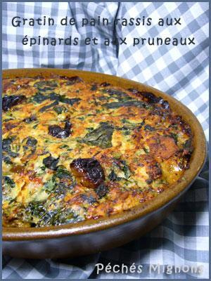 Porc, Pain, Lait, Epinards, Pruneaux, Fruits secs, Oeufs, Lardons, Thym, Persil, Herbes, Facile,