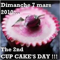 Attention les cupcakes sont de retour et le 2nd cupcake's day est annoncé ! A vos recettes !!!