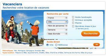 moteur recherche hébergements touristiques, abritel, cahier des charges site internet