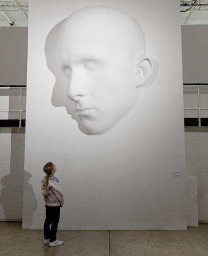 Monere, fibreglass sculpture, 2,5m x 1,8m x 0,8m, 2009