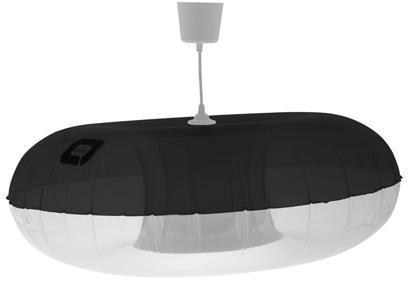 Suspension Quasar. Modèle noir. Branex design. Prix disponible sur site
