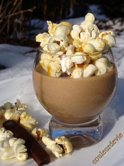 Mousse aux Carambars et pop-corn