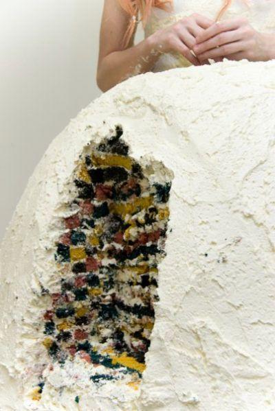 Le robe de mariée mangeable ...