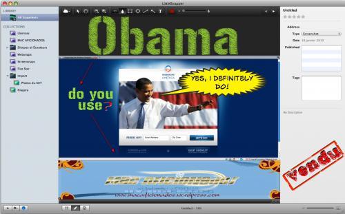 Obama pour Mac Aficionados©