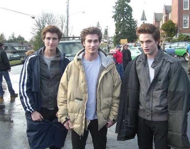 Twilight Fascination : De nouvelles photos sur le tout premier tournage - Les doubles du beau vampire : c'est très effrayant.