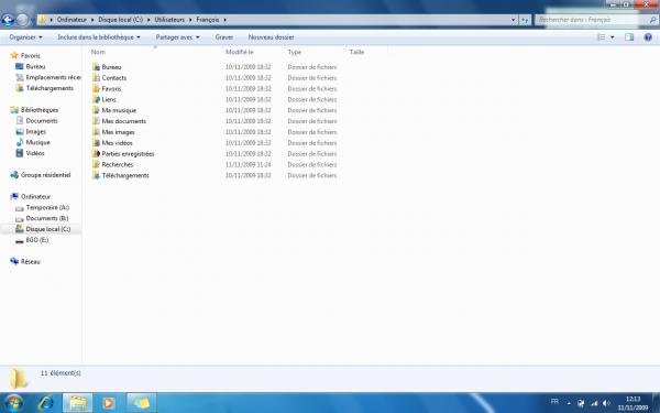 Déplacer tout ces documents sur un autre disque dur/partition