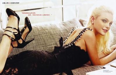 ♥ Jessica Stam en couverture du Elle Chine de février 2010 ♥