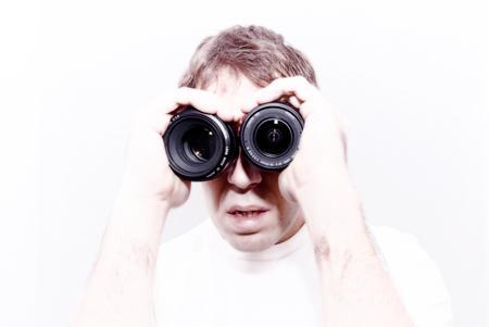 L'homme binoculaire (autoportrait photographique)