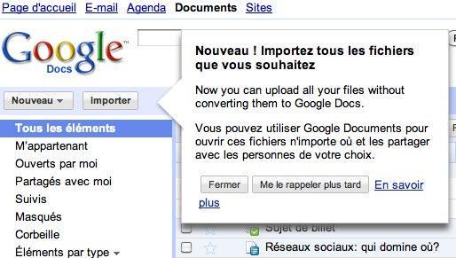 google doc fichiers Google Documents: comment rentabiliser un service gratuit