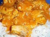 Poulet curry, tomates lait coco