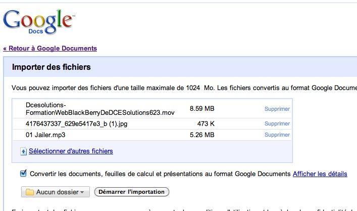 google doc fichier 2 Google Documents comme espace disque, du bon et du moins bon
