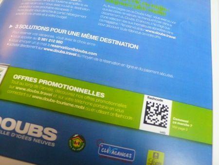 CDT Doubs, e-marketing, flashcode, flash-code, tag 2D