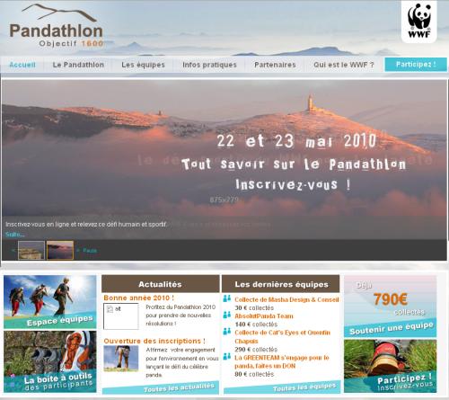 le Pandathlon, la course des héros verts