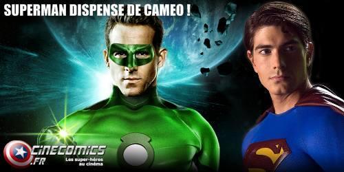 pas de caméo pour superman dans the green lantern avec ryan reynolds