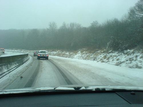 De la neige ce matin en Lorraine