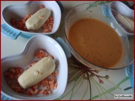 Quenelles de brochet à la bisque de homard