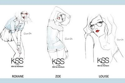 Garance Doré pour la collection Kiss de Krys