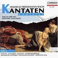 hermann max cantates 2 wilhelm friedemann bach